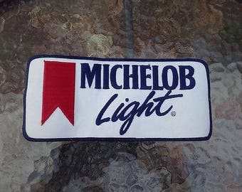Michelob Light Beer Patch Unused Delivery Driver Coat Emblem Large Unused Vintage 1980s Anheuser Busch Brewery