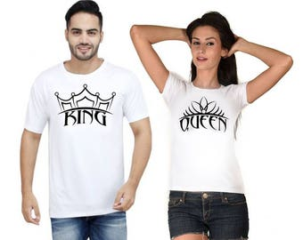 King and Queen shirts V1, Couples shirts, Matching shirts, Customized gifts, Gift ideas, graphic shirts, Customized shirts, Iron on transfer