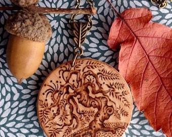 Solid Birchwood 'Tree' Pendant