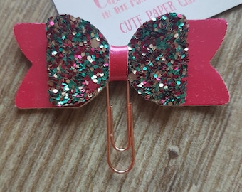 Small Aquadisiac Glitter and Pink 3D Bow