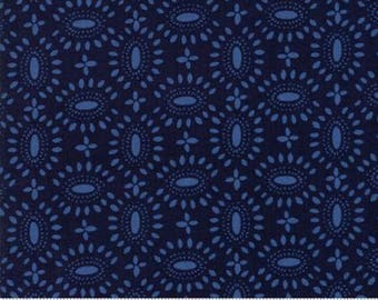 Moda BLOOMSBURY by Franny and Jane-floral broach in navy-(47515 13)-by the YARD