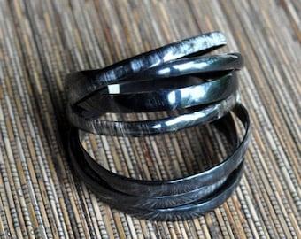 Bracelet semainier black Horn natural • 7 •creation d'art craftsman lots sale Caritative Haiti • •