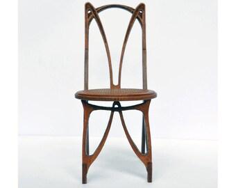 Art Nouveau Chair Dollhouse miniature kit 1:12