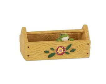 Fairy Garden  - Frog Caddy - Miniature