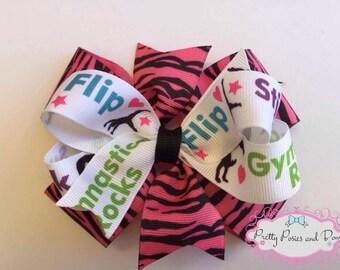 Gymnastics Hair Bow, Gymnastics Bow, Gymnastics Items, Gymnastics Gift
