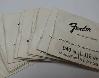 Vintage Fender guitar strings .040 in 1.016 mm nicklewound