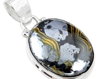 SCHALENBLENDE jewelry pendant, jewelry schalenblende, natural stone, jew19.1