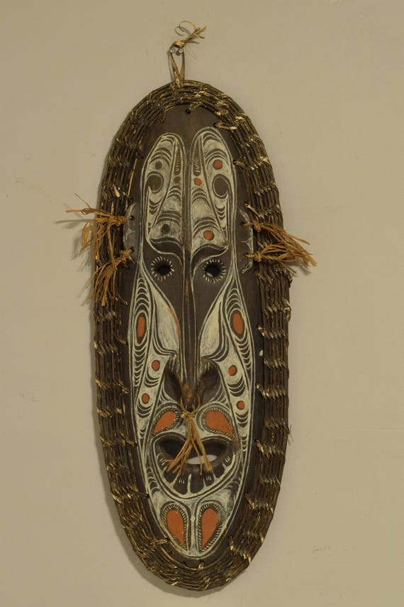 Papua New Guinea Mask Totem Spirit Dream Mask East Sepik Provence Handmade Ceremonial Sacred Mask