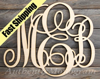 Dorm Decor Best Value WOODEN MONOGRAM - Laser Cut Wooden monogram wall hanging - Large Monogram wall letters - Personalized Gift