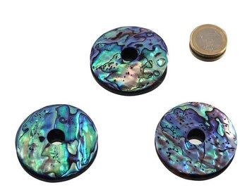 Abalone Paua Shell, donut 50 mm
