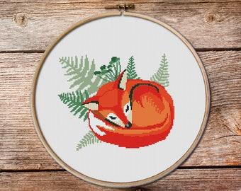 Forest Fox, Fox Cross stitch pattern, Cute red fox, Counted cross stitch pattern, Cross Stitch Pattern, modern cross stitch pattern, fox