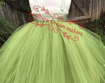 Flower Girl Dress, Navy Flower girl Dress, Navy and orange Flower girl dress tutu, Flower girl tutu dress, Beach Flower Girl Tutu