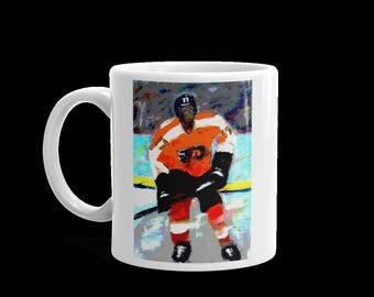 Flyers guy on a mug. Two sizes and printed on both sides
