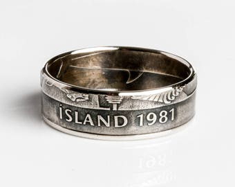 Iceland Coin Ring