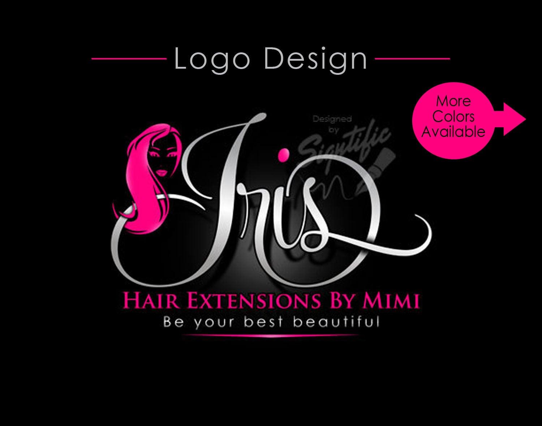 hair extension logo virgin hair logo hair business logo