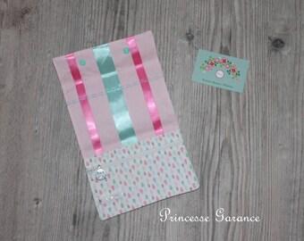 Birthday * bag, hair clip, elastic, cotton pouch drops, pastel - custom