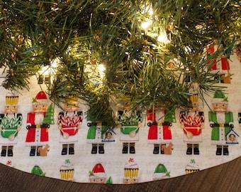"Christmas Tree Skirt-Nutcracker-Cupcake Tree Skirt-Holiday Decor-Tree Skirt-Christmas Decor-Candy Canes-48-50"""