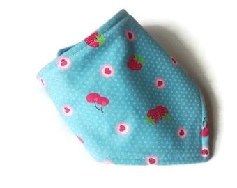 blue dribble bib bandana bib gender neutral baby gift baby shower gifts baby gift under 10 toddler dribble bandana bib soft berries pattern