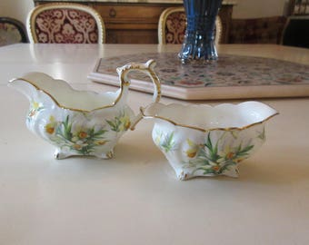 ENGLAND HAMMERSLEY SUGAR Bowl and Creamer Set