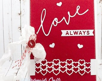 Love Always Greeting Card for Valentine's Day / Wedding / Anniversary / Just Because Love