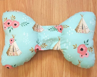 Teepee Infant Head Support - Torticollis - Positional Plagiocephaly - Elephant Ear Pillow - Car Seat Head Support - Baby Shower Gift