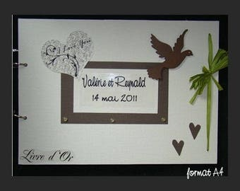 Guestbook for wedding Dove