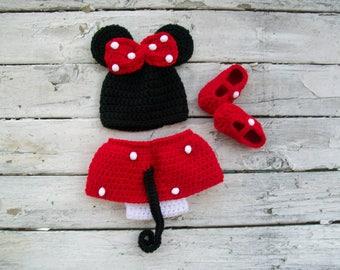 Newborn Girl, Baby Girl Clothes, Newborn Minnie Mouse, Gifts for NewbornGirl