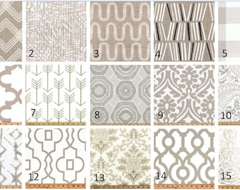 Ecru Window Valances-Window Treatments-You Choose Your Size and Pattern