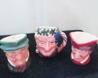 3 Vintage Royal Doulton Toby Character Mugs  from England