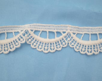 lace trim white 30mm