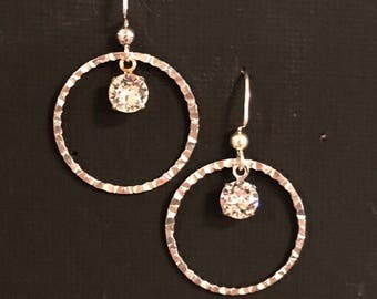Swarovski and hoop earrings