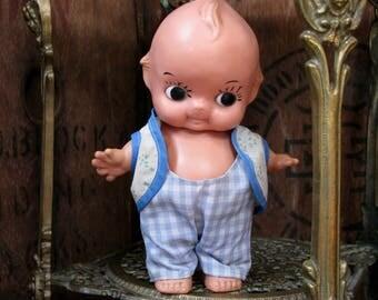 Vintage Kewpie Doll, Vinyl Doll, Rosie O'Neill, Vintage Doll, 1960s Doll, Star Hands, Star Fish Hands, Mid Century Doll, Vinyl Doll, Clothes