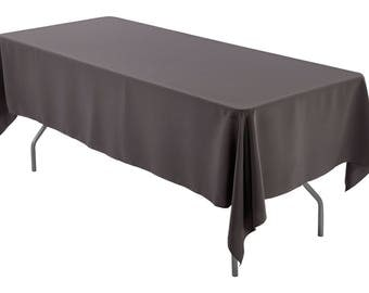 60 X 102 Inch Rectangular Charcoal Gray Tablecloth Polyester | Wedding  Tablecloth
