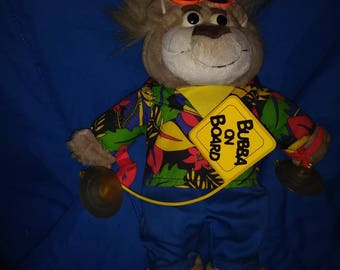 Bubba on Board vintage 90s talking plush 12 inches