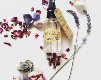 Rose Floral Water - Natural Rose Water - Organic Rose Water - Natural Skin Toner - Rose Hydrosol - Rose Water Toner - Aromatherapy