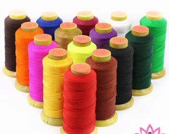 1000 METERS -20 COLORS -3-24 PLY - Strand String Line Thread string  Red Rope Roll- for Jewelry Pendant Necklace Chain Cloth Bracelet