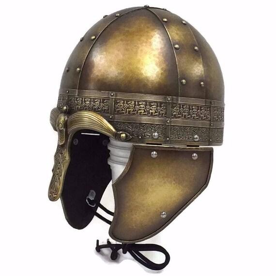 Larp helmet, Mercian Spangenhelm, viking helmet, Skyrim, fantasy, celtic, helmet, cosplay helmet,