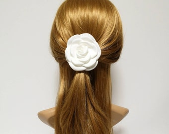 White Flower Hair Clip Corsage Multi Functional Flower Accessory Collection 3 Wedding Bride Flower Hair Accessory