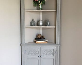 Vintage Old Charm Painted Corner Cabinet (delivery quote available on request)