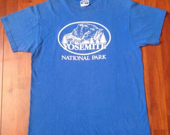 80's/90's Yosemite Half Dome Shirt - Large - Vintage Hanes Beefy-T - USA