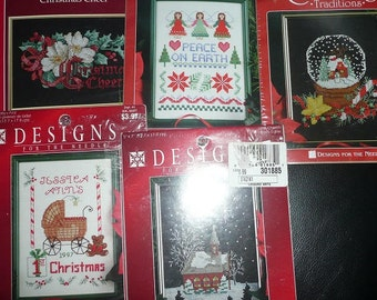 Holiday Time/Designs For The Needle  Christmas Cross Stitch Kits