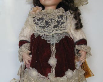 Vintage NEW Collection Doll. Made in Germany.Height 46 cm / 18.1 inches.
