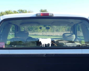 cow decal, vinyl cow decal, cow sticker, cow car decal, white cow, cow sign, farm decal, cattle decal, cattle sticker, cow window sticker