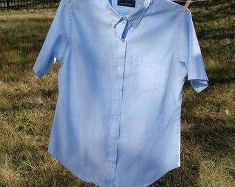 Vintage Lady Van Heusen short sleeve oxford shirt 14