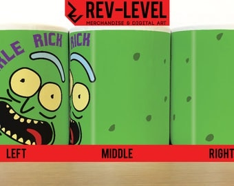 Rick and Morty Pickle Rick Mug - Rick Sanchez Is In A Pickle Cup by Rev-Level