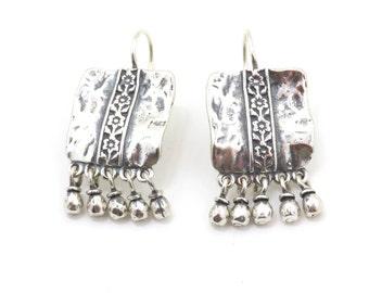 Silver Earrings, Hammered Silver Earrings, Silver Drops, Everyday Silver Earrings, hammered silver drops, silver teardrop earrings, teardrop