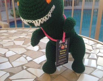 Green Tyrannosaurus, Dark Green T Rex, Green Dinosaur Toy, T Rex Plushie, T Rex Stuffed Animal, Hunter Green Toy, Tyrannosaurus Rex Toy