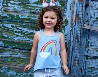 Rainbow Tank Top - Rainbow Baby Outfit - Rainbow Birthday Shirt - Rainbow Baby Gift - Toddler Rainbow Shirt