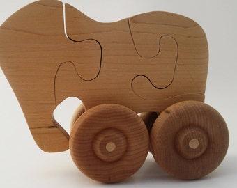 Push Elephant Puzzle Toy