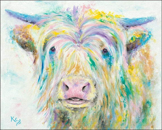 Highland Cow Art for Walls - Cow Wall Art - Cow Artwork - Cow Decor - Cow Art Print - Scottish Cow - Highland Cow Print